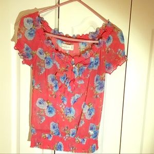 Abercrombie &Fitch flowered Off shoulder top. GUC.